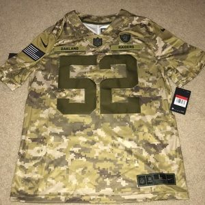 Nike Raiders salute to service Mack jerseys SZ L